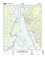 Laurel Bay South Carolina Current topographic map, 1:24000 scale, 7.5 X 7.5 Minute, Year 2014 from South Carolina Map Store
