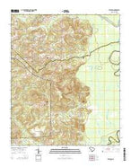 Leesburg South Carolina Current topographic map, 1:24000 scale, 7.5 X 7.5 Minute, Year 2014 from South Carolina Map Store