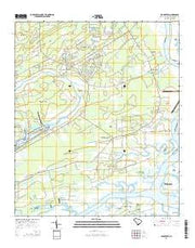 Legareville South Carolina Current topographic map, 1:24000 scale, 7.5 X 7.5 Minute, Year 2014 from South Carolina Maps Store