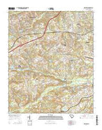 Lexington South Carolina Current topographic map, 1:24000 scale, 7.5 X 7.5 Minute, Year 2014 from South Carolina Map Store