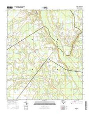 Lodge South Carolina Current topographic map, 1:24000 scale, 7.5 X 7.5 Minute, Year 2014 from South Carolina Maps Store