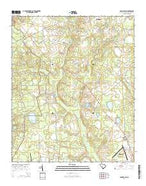 Long Branch South Carolina Current topographic map, 1:24000 scale, 7.5 X 7.5 Minute, Year 2014 from South Carolina Map Store