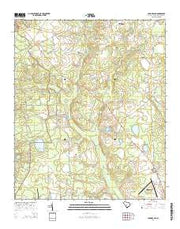 Long Branch South Carolina Current topographic map, 1:24000 scale, 7.5 X 7.5 Minute, Year 2014 from South Carolina Maps Store