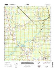 Longs South Carolina Current topographic map, 1:24000 scale, 7.5 X 7.5 Minute, Year 2014 from South Carolina Maps Store
