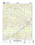 Loris South Carolina Current topographic map, 1:24000 scale, 7.5 X 7.5 Minute, Year 2014 from South Carolina Map Store