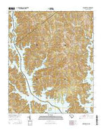 Lowndesville South Carolina Current topographic map, 1:24000 scale, 7.5 X 7.5 Minute, Year 2014 from South Carolina Map Store