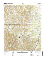 Lowrys South Carolina Current topographic map, 1:24000 scale, 7.5 X 7.5 Minute, Year 2014 from South Carolina Map Store