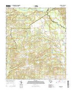 Lucknow South Carolina Current topographic map, 1:24000 scale, 7.5 X 7.5 Minute, Year 2014 from South Carolina Map Store