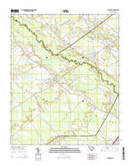 Lynchburg South Carolina Current topographic map, 1:24000 scale, 7.5 X 7.5 Minute, Year 2014 from South Carolina Map Store
