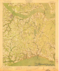 Manning South Carolina Historical topographic map, 1:62500 scale, 15 X 15 Minute, Year 1921