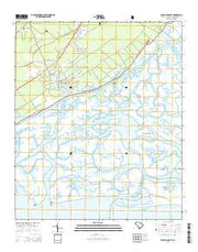 McClellanville South Carolina Current topographic map, 1:24000 scale, 7.5 X 7.5 Minute, Year 2014 from South Carolina Maps Store