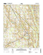 McColl South Carolina Current topographic map, 1:24000 scale, 7.5 X 7.5 Minute, Year 2014 from South Carolina Map Store