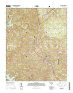 McCormick South Carolina Current topographic map, 1:24000 scale, 7.5 X 7.5 Minute, Year 2014 from South Carolina Map Store
