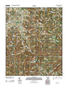 Monetta South Carolina Historical topographic map, 1:24000 scale, 7.5 X 7.5 Minute, Year 2011
