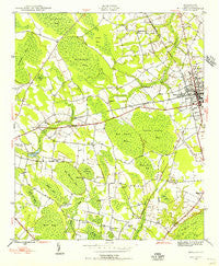 Mullins South Carolina Historical topographic map, 1:24000 scale, 7.5 X 7.5 Minute, Year 1946