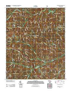 Newberry NW South Carolina Historical topographic map, 1:24000 scale, 7.5 X 7.5 Minute, Year 2011