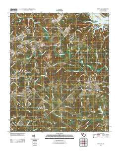Ninety Six South Carolina Historical topographic map, 1:24000 scale, 7.5 X 7.5 Minute, Year 2011