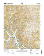 Oakway South Carolina Current topographic map, 1:24000 scale, 7.5 X 7.5 Minute, Year 2014 from South Carolina Map Store