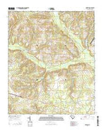 Oakwood South Carolina Current topographic map, 1:24000 scale, 7.5 X 7.5 Minute, Year 2014 from South Carolina Map Store