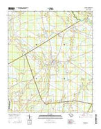 Olanta South Carolina Current topographic map, 1:24000 scale, 7.5 X 7.5 Minute, Year 2014 from South Carolina Map Store