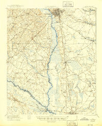 Orangeburg South Carolina Historical topographic map, 1:62500 scale, 15 X 15 Minute, Year 1921