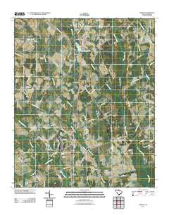 Oswego South Carolina Historical topographic map, 1:24000 scale, 7.5 X 7.5 Minute, Year 2011
