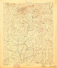 Pickens South Carolina Historical topographic map, 1:125000 scale, 30 X 30 Minute, Year 1888