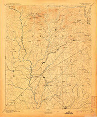 Pickens South Carolina Historical topographic map, 1:125000 scale, 30 X 30 Minute, Year 1894