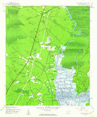 Plantersville South Carolina Historical topographic map, 1:24000 scale, 7.5 X 7.5 Minute, Year 1943