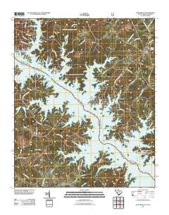 Plum Branch South Carolina Historical topographic map, 1:24000 scale, 7.5 X 7.5 Minute, Year 2011