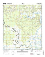 Pritchardville South Carolina Current topographic map, 1:24000 scale, 7.5 X 7.5 Minute, Year 2014 from South Carolina Map Store