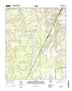 Privateer South Carolina Current topographic map, 1:24000 scale, 7.5 X 7.5 Minute, Year 2014 from South Carolina Map Store