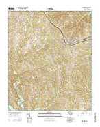 Prosperity South Carolina Current topographic map, 1:24000 scale, 7.5 X 7.5 Minute, Year 2014 from South Carolina Map Store