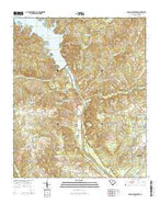 Rabon Crossroads South Carolina Current topographic map, 1:24000 scale, 7.5 X 7.5 Minute, Year 2014 from South Carolina Map Store