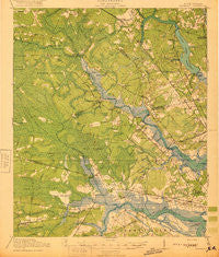 Ravenels South Carolina Historical topographic map, 1:62500 scale, 15 X 15 Minute, Year 1920