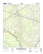 Reevesville South Carolina Current topographic map, 1:24000 scale, 7.5 X 7.5 Minute, Year 2014 from South Carolina Map Store