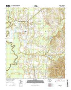 Rembert South Carolina Current topographic map, 1:24000 scale, 7.5 X 7.5 Minute, Year 2014 from South Carolina Map Store