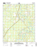 Rhems South Carolina Current topographic map, 1:24000 scale, 7.5 X 7.5 Minute, Year 2014 from South Carolina Map Store