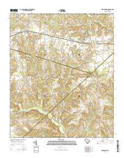 Ridge Spring South Carolina Current topographic map, 1:24000 scale, 7.5 X 7.5 Minute, Year 2014 from South Carolina Maps Store