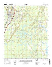 Ridgeland South Carolina Current topographic map, 1:24000 scale, 7.5 X 7.5 Minute, Year 2014 from South Carolina Maps Store