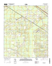 Ridgeville South Carolina Current topographic map, 1:24000 scale, 7.5 X 7.5 Minute, Year 2014 from South Carolina Maps Store