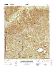 Ridgeway South Carolina Current topographic map, 1:24000 scale, 7.5 X 7.5 Minute, Year 2014 from South Carolina Maps Store