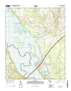 Saint Paul South Carolina Current topographic map, 1:24000 scale, 7.5 X 7.5 Minute, Year 2014 from South Carolina Map Store