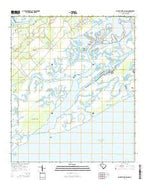 Saint Phillips Island South Carolina Current topographic map, 1:24000 scale, 7.5 X 7.5 Minute, Year 2014 from South Carolina Map Store