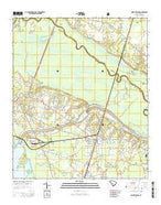Saint Stephen South Carolina Current topographic map, 1:24000 scale, 7.5 X 7.5 Minute, Year 2014 from South Carolina Map Store