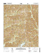 Salem Crossroads South Carolina Current topographic map, 1:24000 scale, 7.5 X 7.5 Minute, Year 2014 from South Carolina Map Store