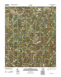 Saluda South South Carolina Historical topographic map, 1:24000 scale, 7.5 X 7.5 Minute, Year 2011