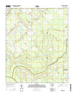 Sandridge South Carolina Current topographic map, 1:24000 scale, 7.5 X 7.5 Minute, Year 2014 from South Carolina Map Store