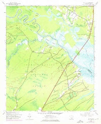 Santee South Carolina Historical topographic map, 1:24000 scale, 7.5 X 7.5 Minute, Year 1943