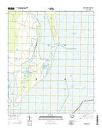 Santee Point South Carolina Current topographic map, 1:24000 scale, 7.5 X 7.5 Minute, Year 2014 from South Carolina Map Store